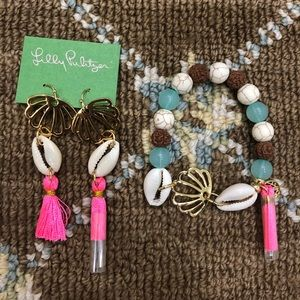 Jewelry - Lilly Pulitzer Shell/Tassle earrings and Bracelet